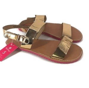 NWT Lilly Pulitzer Gold sandals sz 5